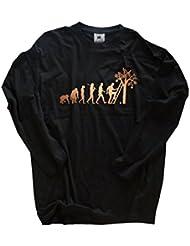 Shirtzshop T-shirt Bronze Edition Erntehelfer Obsternte Obstpflücker Evolution