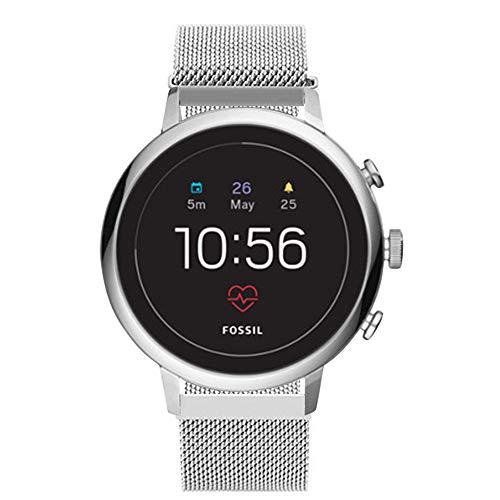 Aimtel Kompatibel mit Fossil Q Venture Armband, 18 mm Metall Ersatzband Zubehör für Fossil Q Venture/Gen 4 /Huawei TalkBand B3 Smartwatch (Silber) -