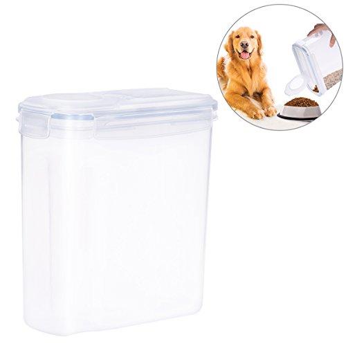 UEETEK 4L Hundefutter Box,Hund Futterschale/Futterbehälter Vorratsbehälter mit Graduierten Skala Schnalle Versiegelt Lebensmittel Aufbewahrungsbox for Hund (Lebensmittel, Hundefutter)