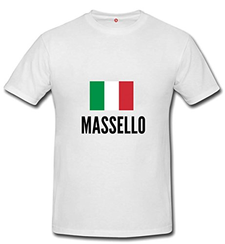 T-shirt Massello city White