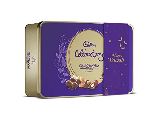 Cadbury Celebrations Rich Dry Fruit Chocolate Gift Pack, 177g with Extra Happy...