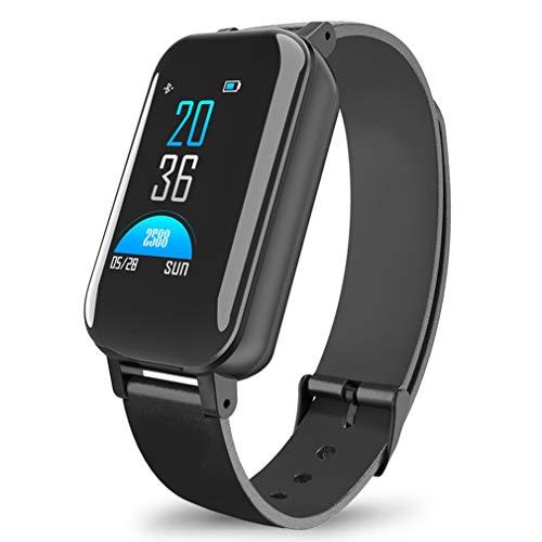 JIEGEGE Smartwatch, Binaurale Bluetooth-Kopfhörer-Fitness Uhren, Pulsmesser Smart Wristband Sportuhr, Integrierter Bluetooth 5.0-Chip Für IOS Android