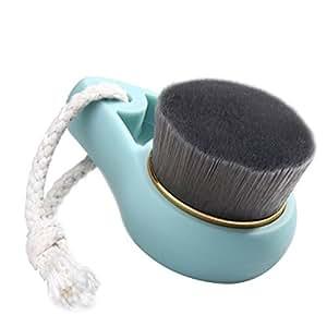 Nettoyant Visage Brosse peau du visage produits de soins de nettoyage Brush With charbon de bambou fibre - vert, Pack 2