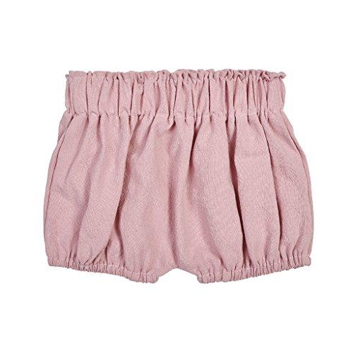 Mikiya Baby Rüschen Bloomers Baby Shorts Sommer Höschen Baumwollblüher Rüschenhöschen für Junge UNE Mädchen (Rosa)