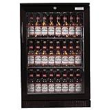 LEC Commercial 444443190Single Door Back Bar Kühler, ECA-geprüft, schwarz