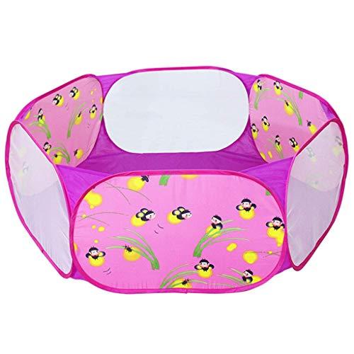 WYJW Baby-Produkte Cute Pop Up Hexagon Kinder Ball Pit Kleinkind Zelt Pink Ball Pool