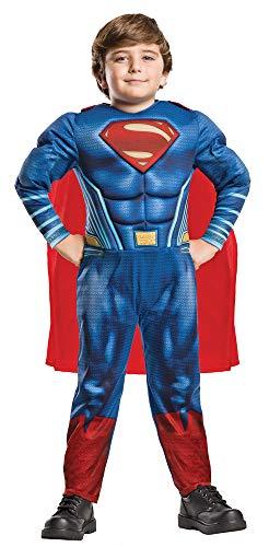 Superman Justice League Deluxe Kostüm für Kinder - Gr. L (7-8 Jahre)