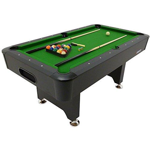Viavito Unisex PT200 6ft Pool Table, Black/Green, 6 ft