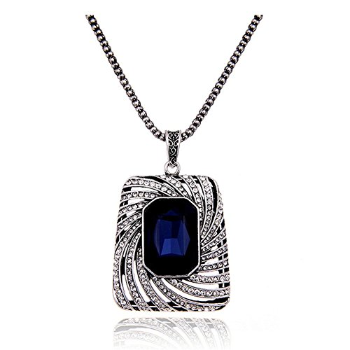 41YchFth VL UK BEST BUY #1Z P Classic Dress Long Pattern Set Crystal Square Pendant Delicate Sweater Chain In Winter For Women price Reviews uk