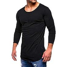 Camiseta de Manga Larga Hombre, BBestseller Camisa Chándal para Hombre Sudaderas con Capucha para Hombre