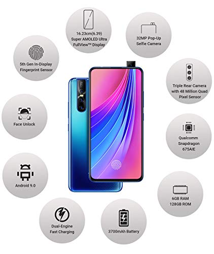 Vivo V15 Pro (Topaz Blue, 6GB RAM, 128GB Storage) with No Cost EMI/Additional Exchange Offers