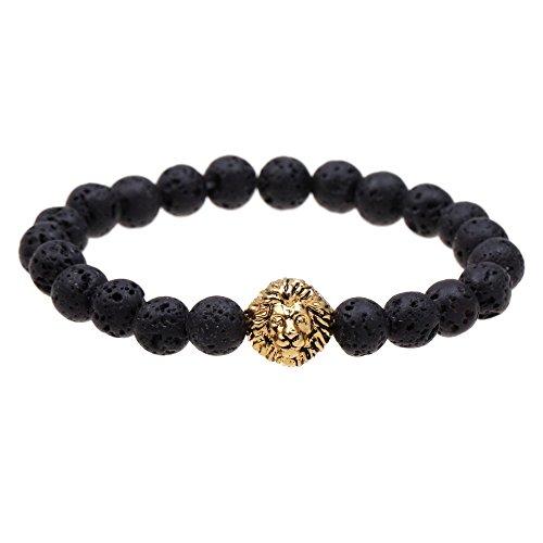 Ishow Yoga-Armband, Meditation, Heilung, Lavastein, Löwenkopf, buddhistische Gebetskette, Zen-Buddhismus, Reiki, Energie, Mala