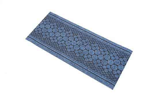 William Armes Dandy Kork-Läufer, extra lang, strapazierfähig, 300 x 67 cm, Blau (Britische Baumwoll-teppich)