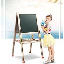 Los niños se pusieron del lado magnético tablero de dibujo de la pintura de caballete andamios de madera pequeña pizarra WordPad