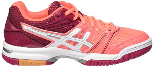 Asics Gel-Rocket 7, Chaussures de Volleyball Femme Rouge (Flash Coral/white/cerise)
