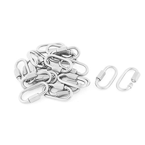 DealMux Multifunctional M3.5 Thickness Quick Links Carabiners Hook 20pcs