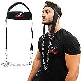 Kopftrainer Nackentrainer Hals Training Head Harness mit Stahl Kette Neoprene Gewichtheben Übung...