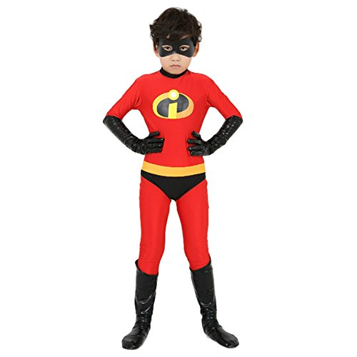 KN Halloween Junge Supermann Cosplay Kostüm Muskel Kleidung Halloween Disney Cartoon Film