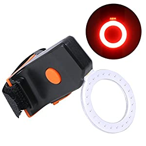 OUTERDO Bike Taillight Rear Light Tail Light USB Rechargeable Bicycle Red Taillight Round Taillight Waterproof Super Bright and Easy Install