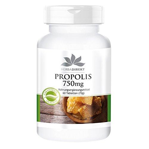 Herbadirekt - PROPOLIS 750mg - 60 Tabletten - 22,5mg Galangin