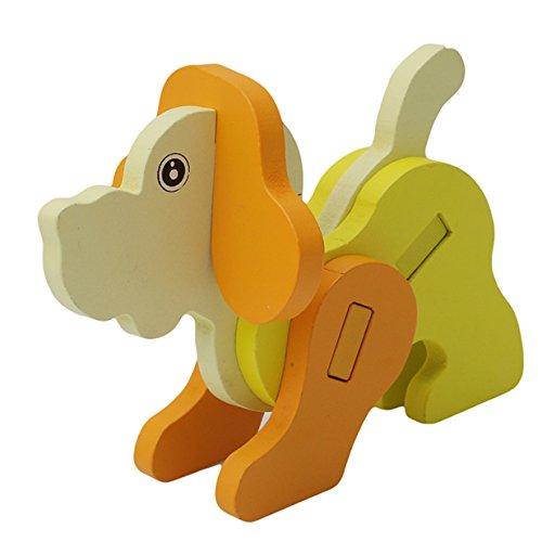 Lalang Farbe Tier 3D Hölzerne Jigsaw Puzzle Blocks Bildung Kinder Kinder Spielzeug, Baby-Spielzeug, Lernspielzeug - Saw Puzzle Jig Hund