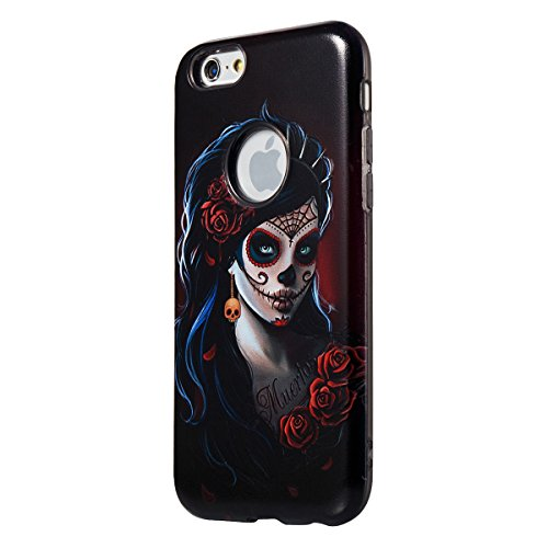 "MOONCASE iPhone 6 Plus/iPhone 6s Plus Coque, [Relief Pattern] Dual Layer Étuis Doux TPU Anti-rayures Antichoc Housse Case pour iPhone 6 Plus/iPhone 6s Plus 5.5"" Painting-2 Painting-1"