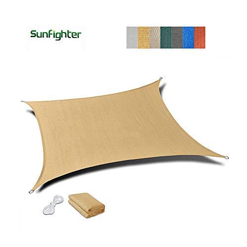 Filet d'ombrage, auvents, Filet Solaire, écran de Protection Solaire, voiles de bâche de Tente de Tente pour auvent, appropriées à la Protection Anti-UV, grandeurs Multiples, Beige (Taille : 2x3m)