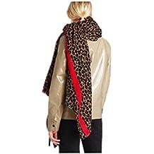 OHlive Vistoso Bufandas de impresión leopardo de moda bufanda de invierno abrig