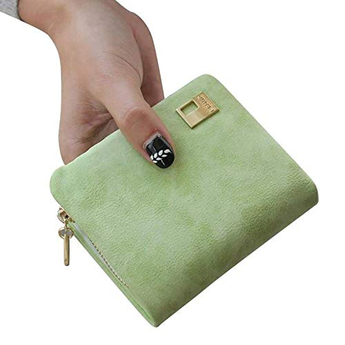 GAOQQ Ladies Luxury Wallet - Hochwertige Leder- und Multi-Card-Geldbörse Mit Reißverschluss-Münzfach,Green