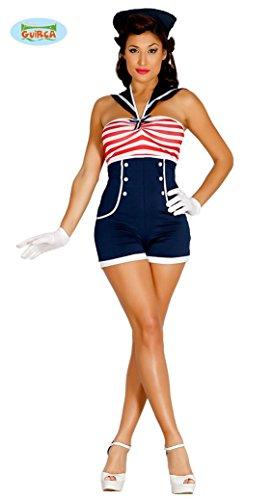 sexy Pin Up Matrosin Kostüm für Damen Karneval Fasching Marine Seefahrt Gr. M, (Kostüme Pinup)
