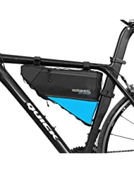 ROSWHEEL 121371 Bolso de bicicleta Triangle de 4L - bolsa frontal de tubo para bicicleta impermeable,Alforjas Delantera Triangulo,Bolsa del Tubo Frontal Titular Triángulo Ciclismo Bicicleta