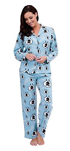 Womens Luxury Soft Full Length Fleece Pyjamas Traditional Button Pjs Ladies Xmas Gift Size UK 8 - 18