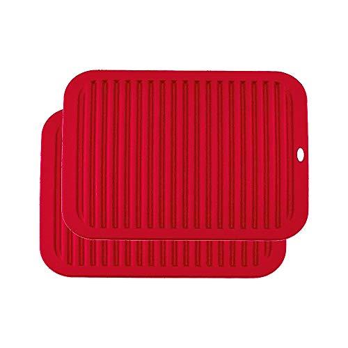 YOFASEN Rojo Salvamanteles Silicona - Resistente Calor