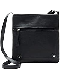 Monique Women Mini Handbag Solid Pattern Sling Bag Shoulder Bag Adjustable Cross-Body Bag Satchel Money Coin Purse...