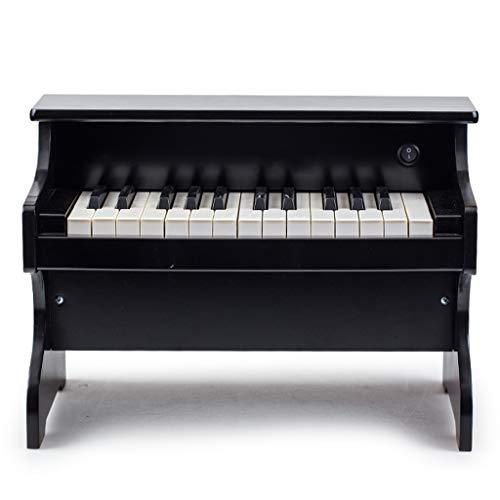 Liufs-tastiera piano da tavolo per bambini in legno a 25 tasti per bambini in vari colori (colore : nero)