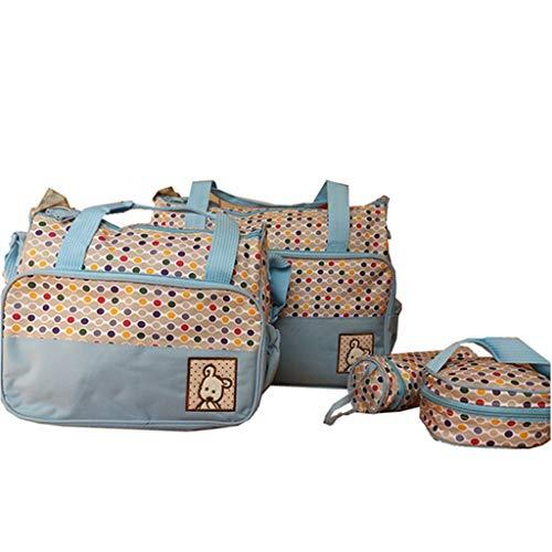 Snakell 5 PC Frauen Multifunktions Mummy Bag Handtaschen Mutterschaft Baby Carriage Bag Baby Zwillingstasche Wickeltasche Babytasche mit Rucksackfunktion nachhaltig inkl Wickelzubeh/ör