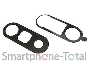 NG-Mobile Original LG G5 H850 Doppel Kameraglas Kameralinse Scheibe Glas + NG-Mobile Klebepad schwarz