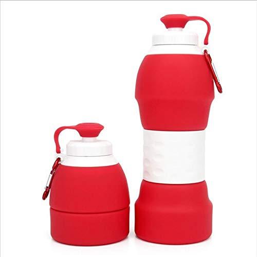 YOPGK Food Grade 580Ml Creativo Plegable Bebida Plegable Deporte Botella de Agua...