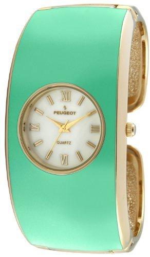 Peugeot 7085TQ–Montre bracelet pour femme, bracelet en métal couleur turquoise