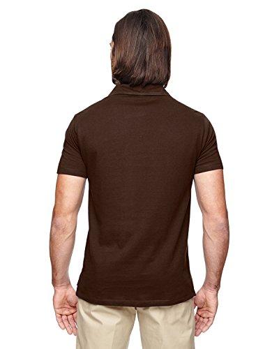 ec2505econscious Herren 4.4oz, 100% Bio-Baumwolle Jersey Kurzarm Polo Walnut