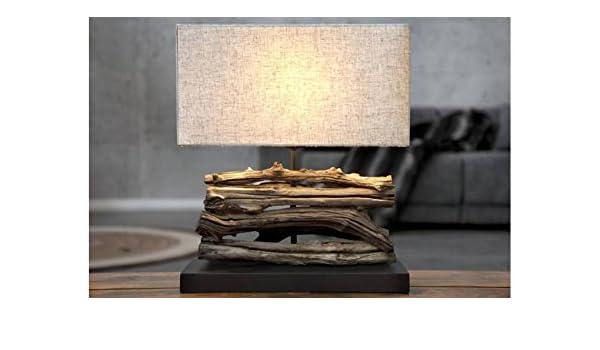 Lampe à poser en bois flotté beige Bérénice:
