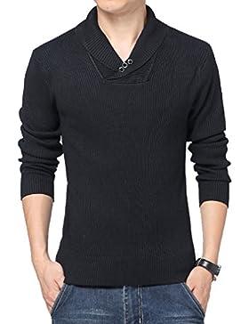 WTUS Crew Knit,Suéter para Hombre,Gris