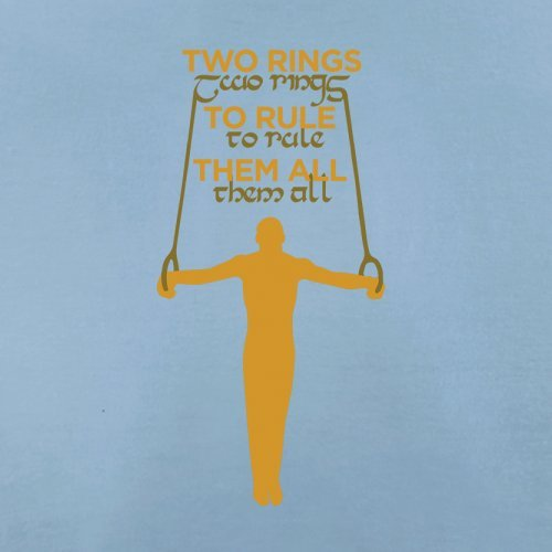 Two Rings To Rule Them - Herren T-Shirt - 13 Farben Himmelblau