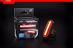 JED USB Rechargeable Bicycle LED Taillight in RED & BLUE colour with six dyanmic modes.