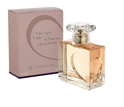Yves Rocher QUELQUES NOTES D'AMOUR Eau de Parfum, sinnlich romantisches Parfum, mit Rose & Hölzern, 1 x Zerstäuber 50 ml