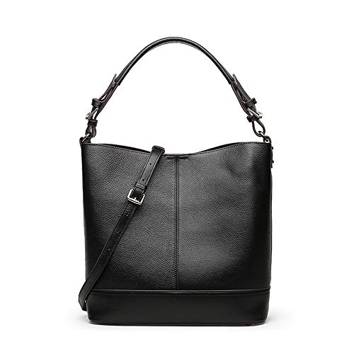 1 Umhängetasche mit Clutch Bag Designer Shopper Taschen Handtasche für Schulferien Frauen Casual Handtasche Schulter-Handtasche (Color : Black) ()