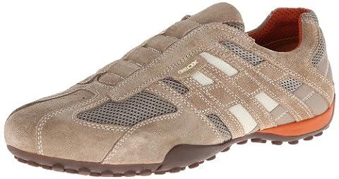 Geox UOMO SNAKE L, Herren Sneakers, Beige (BEIGE/DK ORANGEC0845), 43 EU (9 Herren UK)