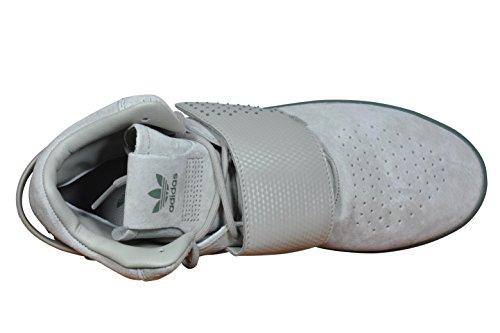 adidas Tubular Invader Strap, Scarpe Sportive Uomo vari colori (Marrón - (Sesamo/Sesamo/Vertra)