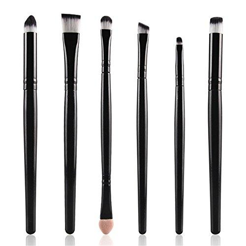 Fami 6pcs cosmétiques maquillage brosse maquillage pinceau brosse, pinceau ombre à paupières,Noir