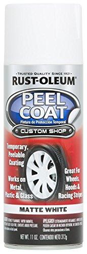 Price comparison product image Rust-Oleum Peel Coat Aerosol Spray Temporary Peelable Coating for Wheels,  Hoods and Racing Stripes,  White,  276800